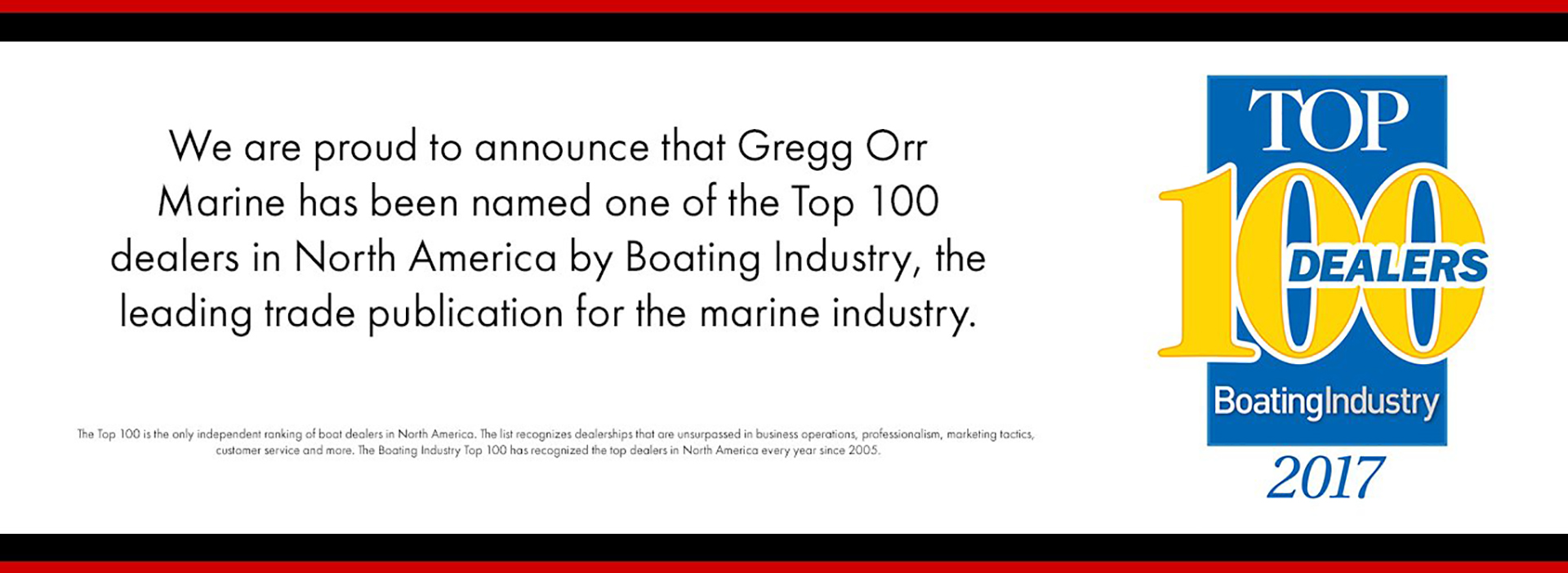 Top 100 Dealers Marine Industry Gregg Orr Marine